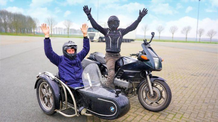 Enzo Knol rijdt op een schwenker zijspan