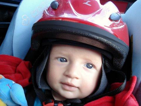 Helmen voor de kinderen